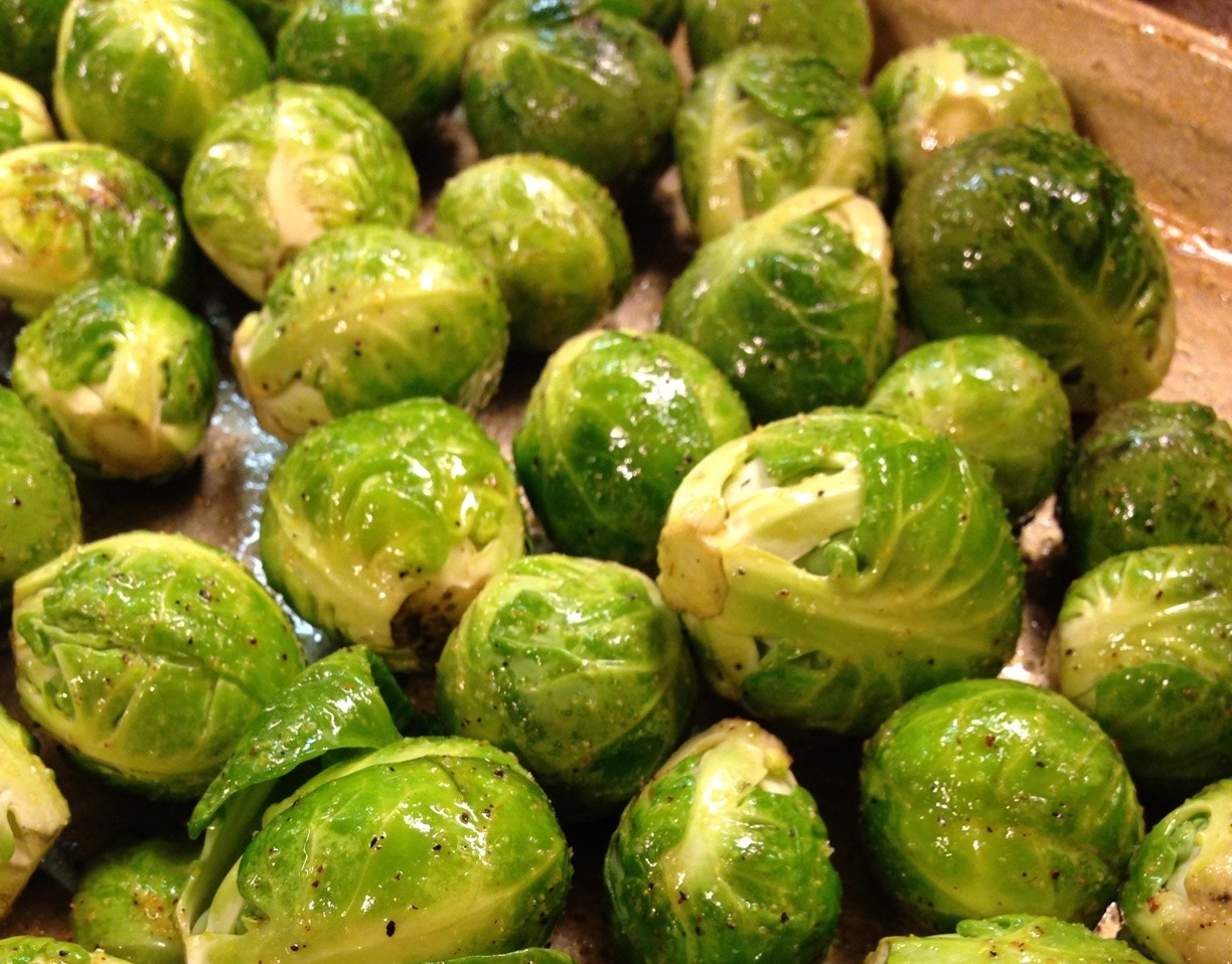 Fresh Pan Roasted Brussel Sprouts