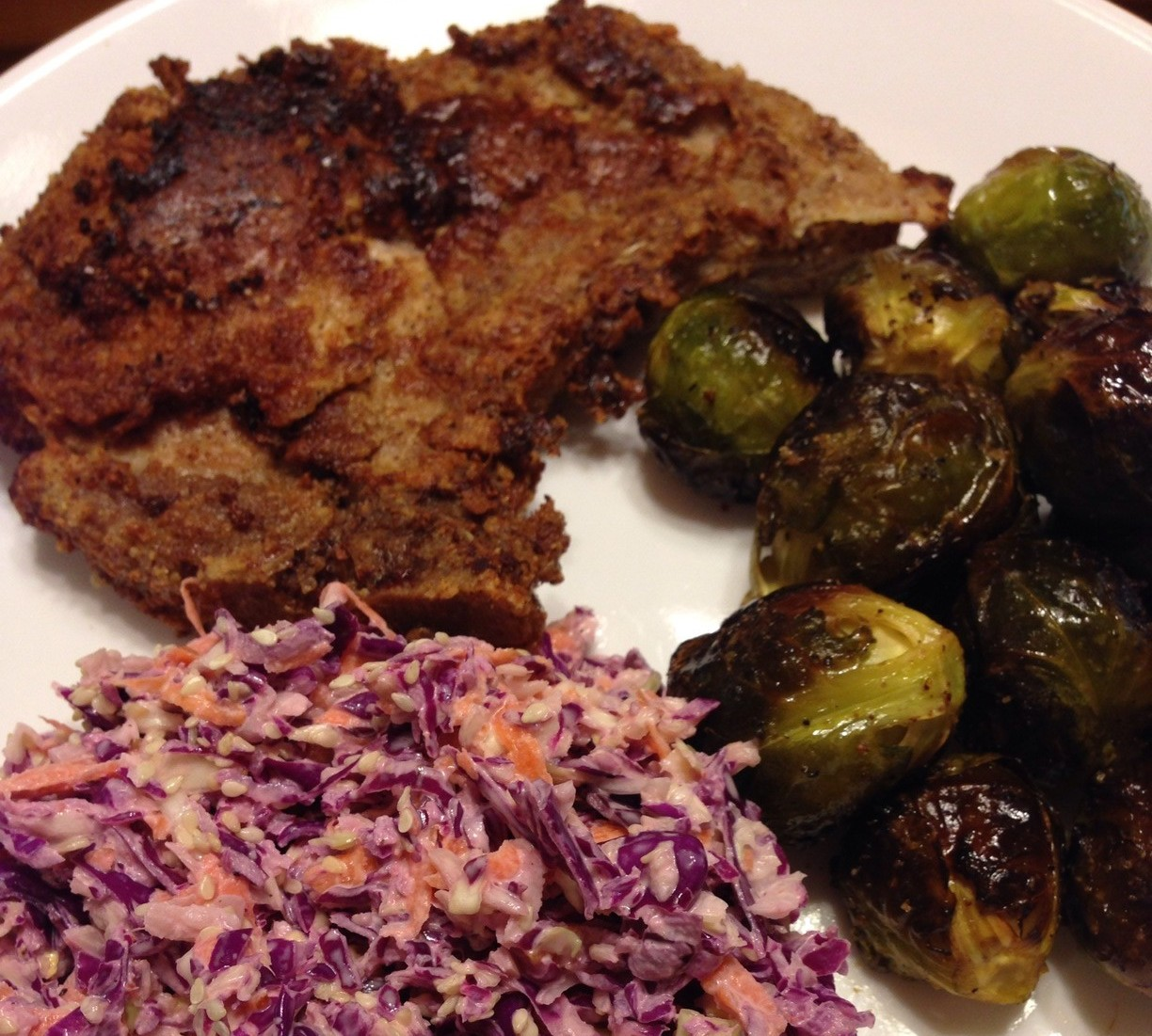 Almond Flour Fried Pork Chop Dinner