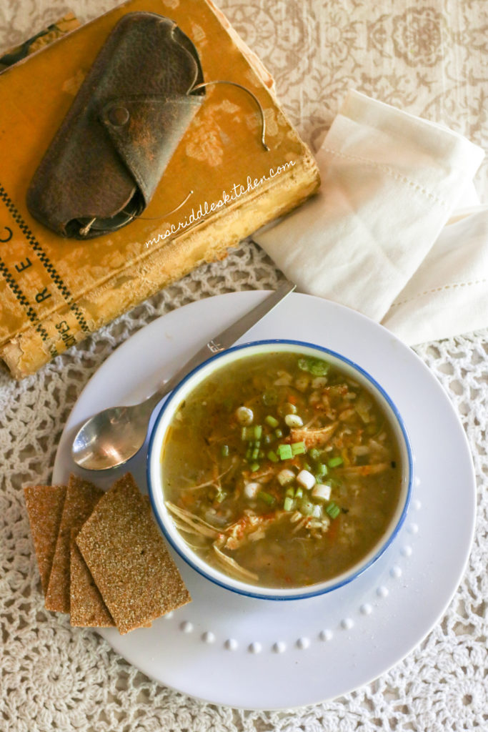 Chicken & Brown Rice Soup (THM E, Low Fat)