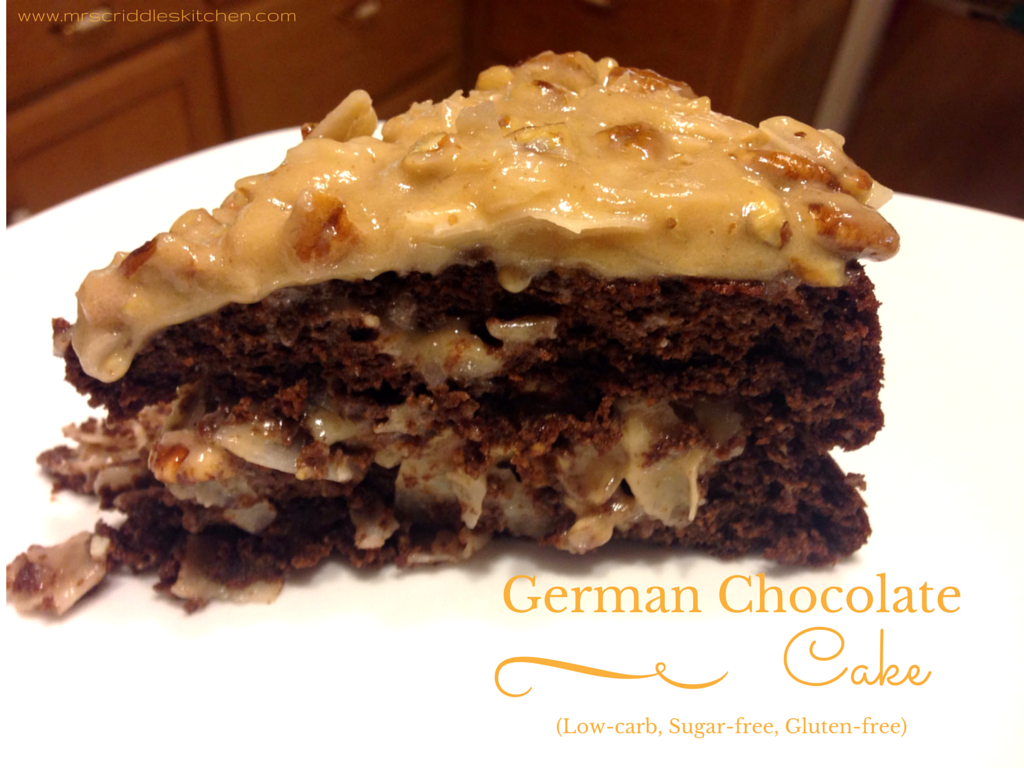 German Chocolate Cake Low Carb Sugar Free
