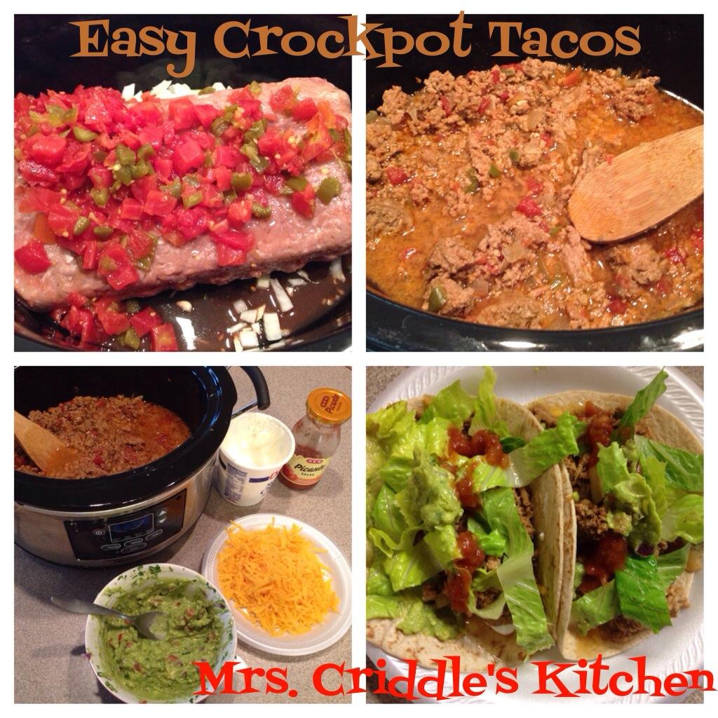 Easy Crockpot Tacos - Mrs. Criddles Kitchen