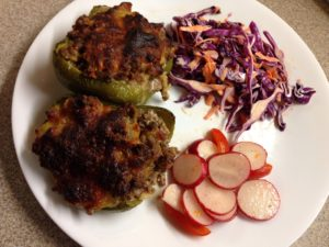 Stuffed Bell Pepper Plate