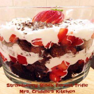 Strawberry Black Forest Trifle - Mrs. Criddles Kitchen