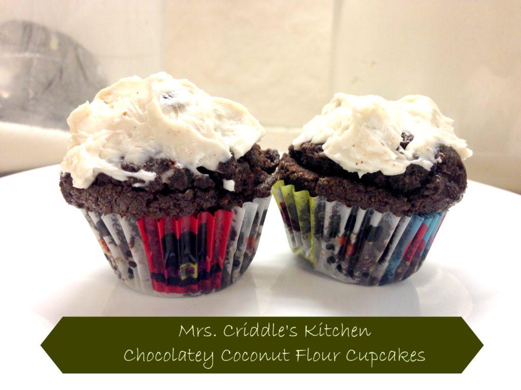 Chocolate Coconut Flour Cupcakes