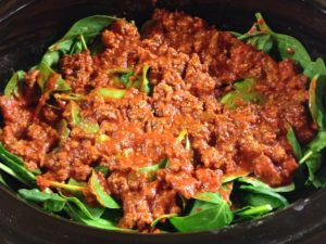 Meat Sauce Spinach