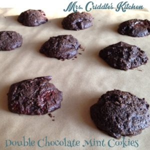 Double Chocolate Mint Cookies Pic
