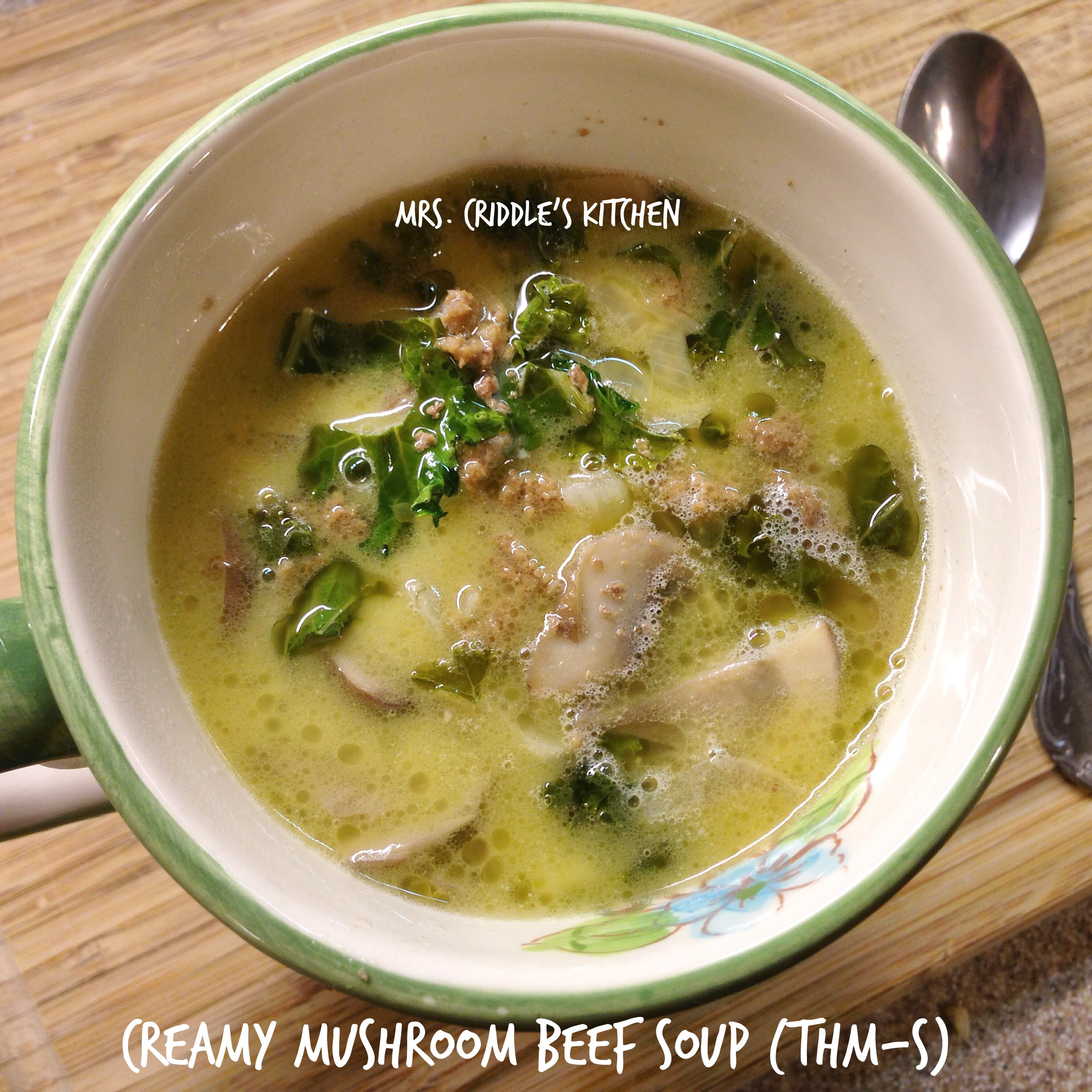 Creamy Mushroom Beef Soup - Mrs. Criddles Kitchen