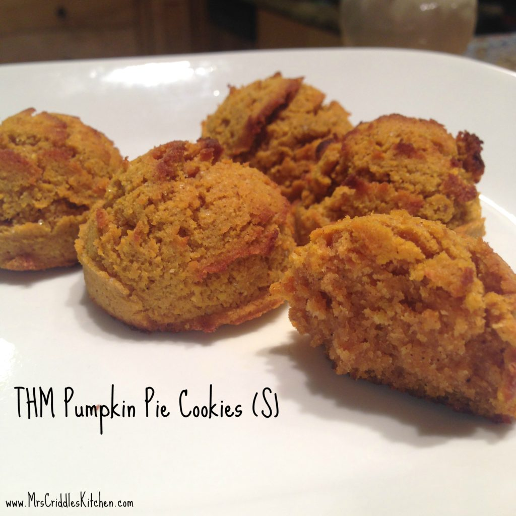 Pumpkin Pie Cookies (S)
