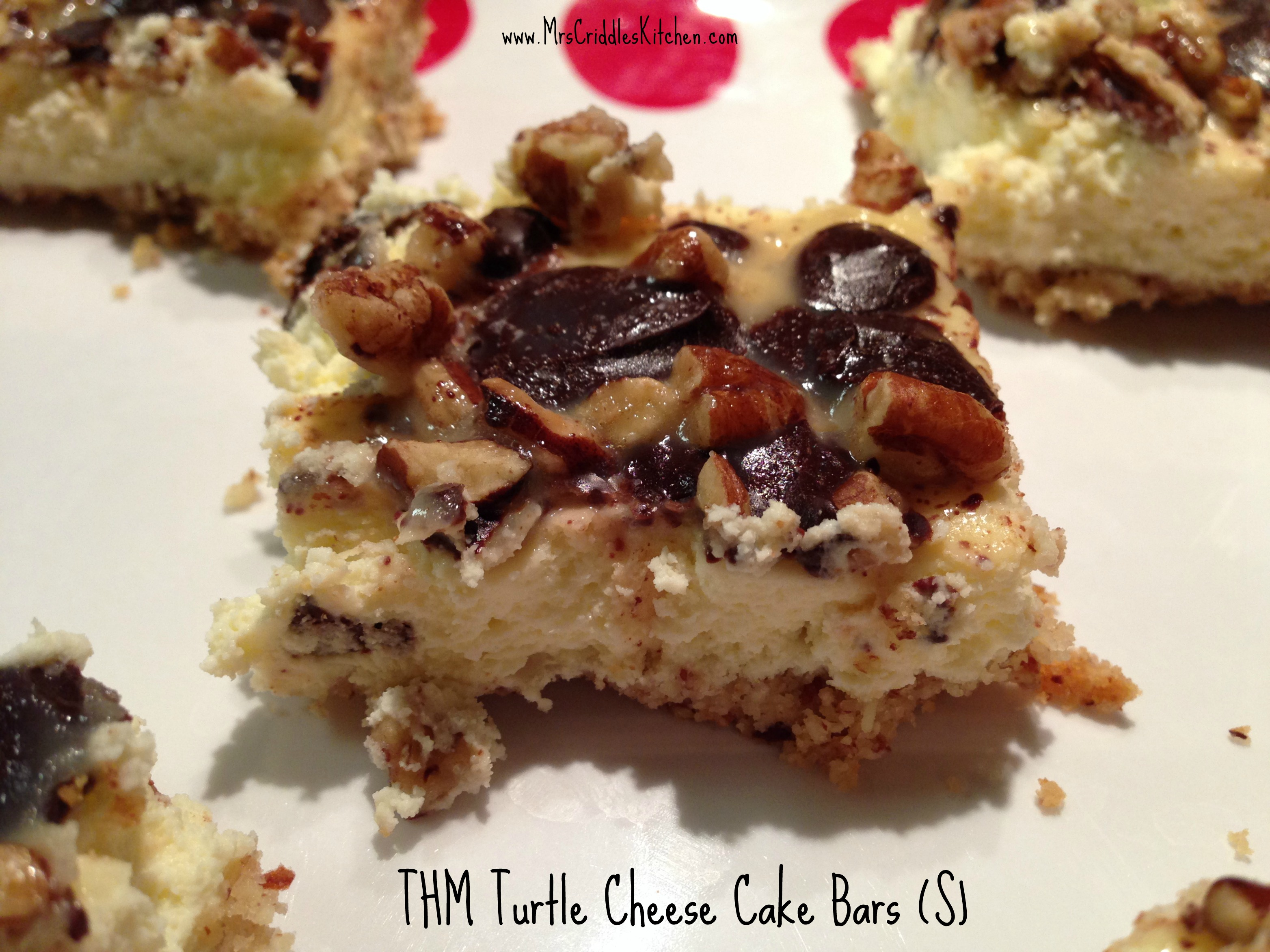 THM Turtle Cheesecake Bars (S) - Mrs. Criddles Kitchen