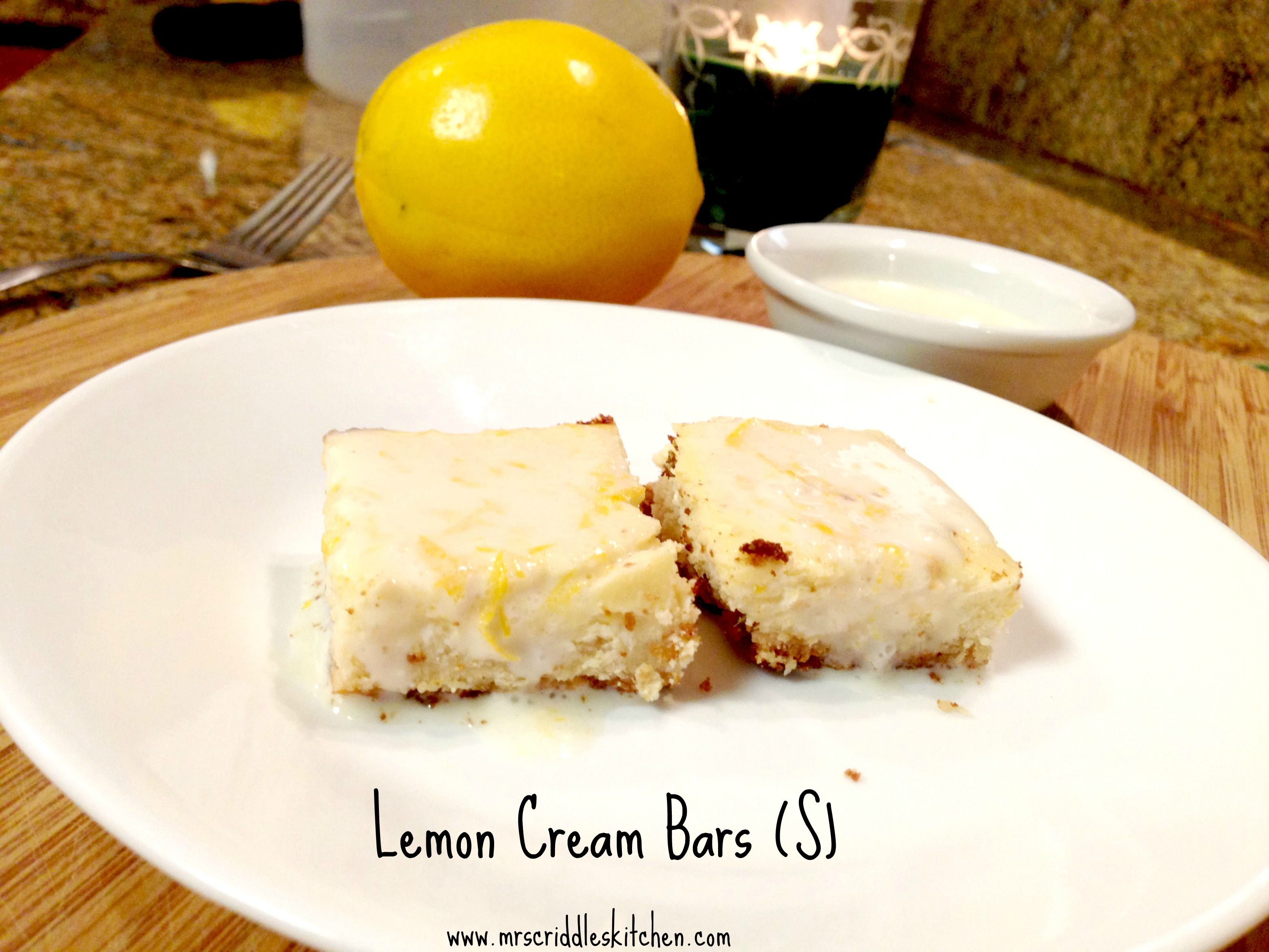 Lemon Cream Bars (S)
