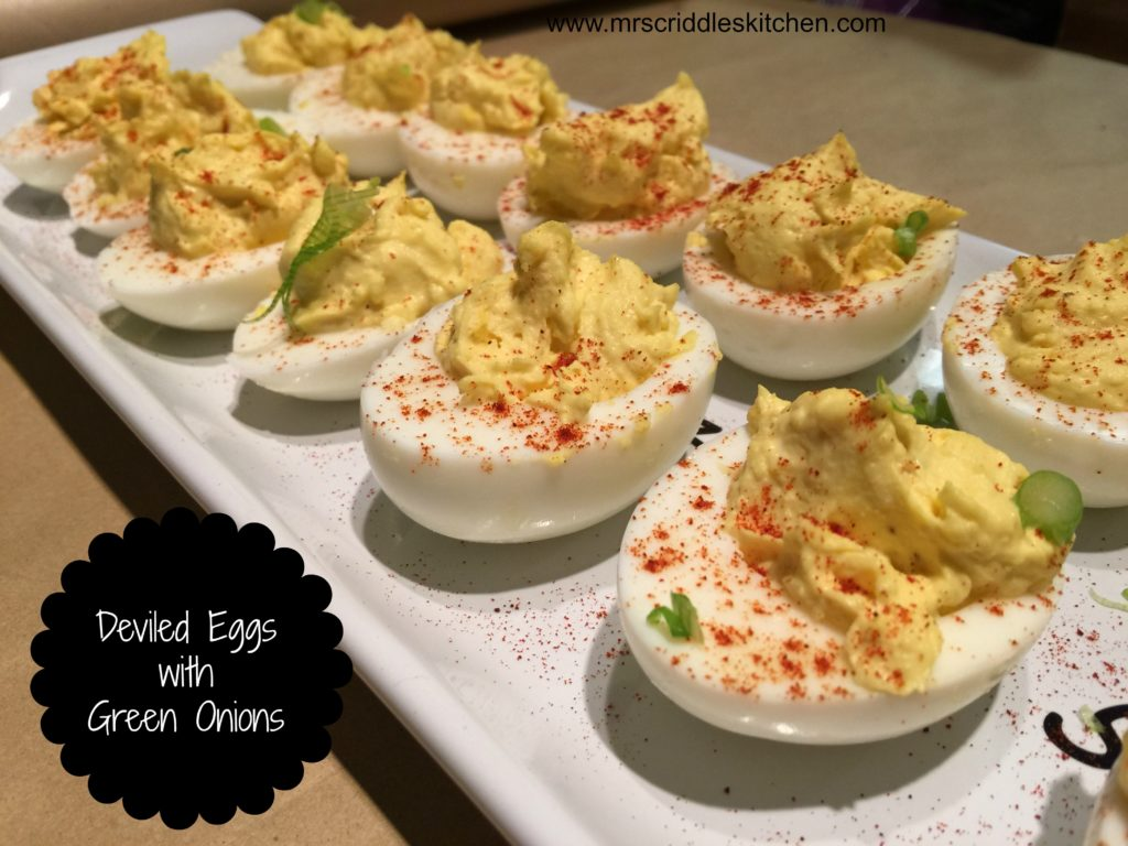 Deviled Eggs with Green Onions