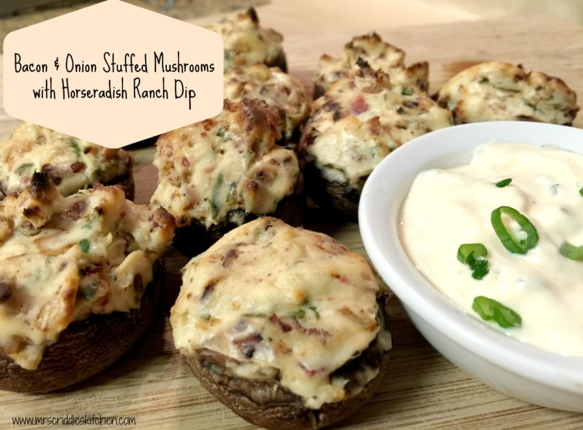 Bacon & Onion Stuffed Mushrooms