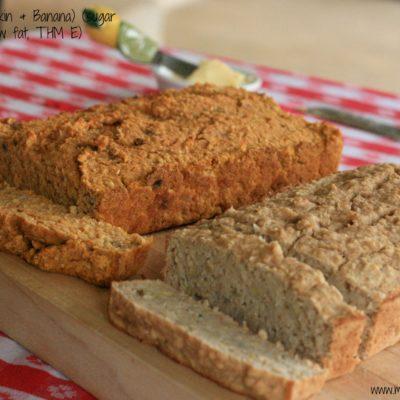 Oat Bread (Pumpkin & Banana, low fat, sugar free, THM E)