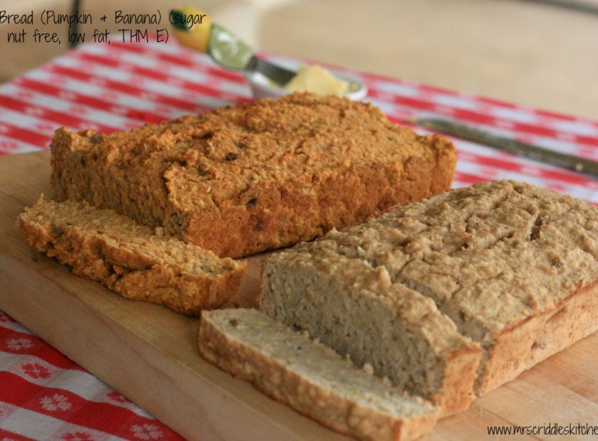 Oat Bread (Pumpkin & Banana, low fat, sugar free, THM E)