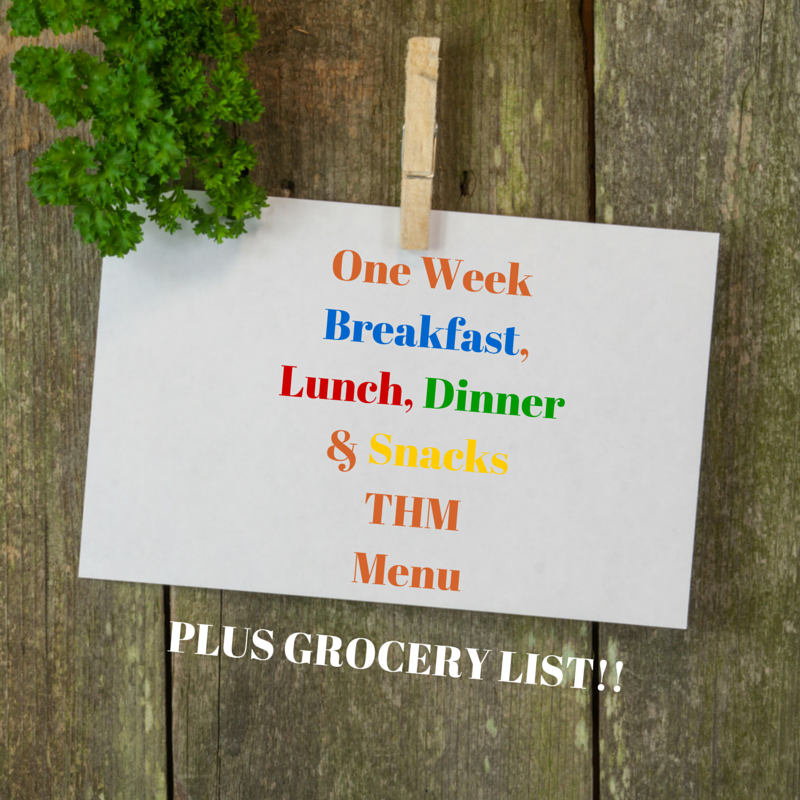Simple One Week THM Menu - Mrs. Criddles Kitchen