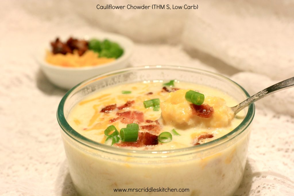 Cauliflower Chowder (THM S, Low Carb)