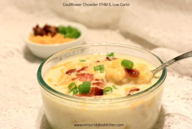 Cauliflower Chowder (THM S, Low Carb)