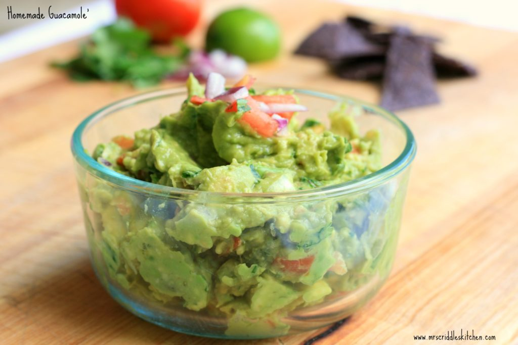 A beautiful easy Homemade Guacamole you will love!