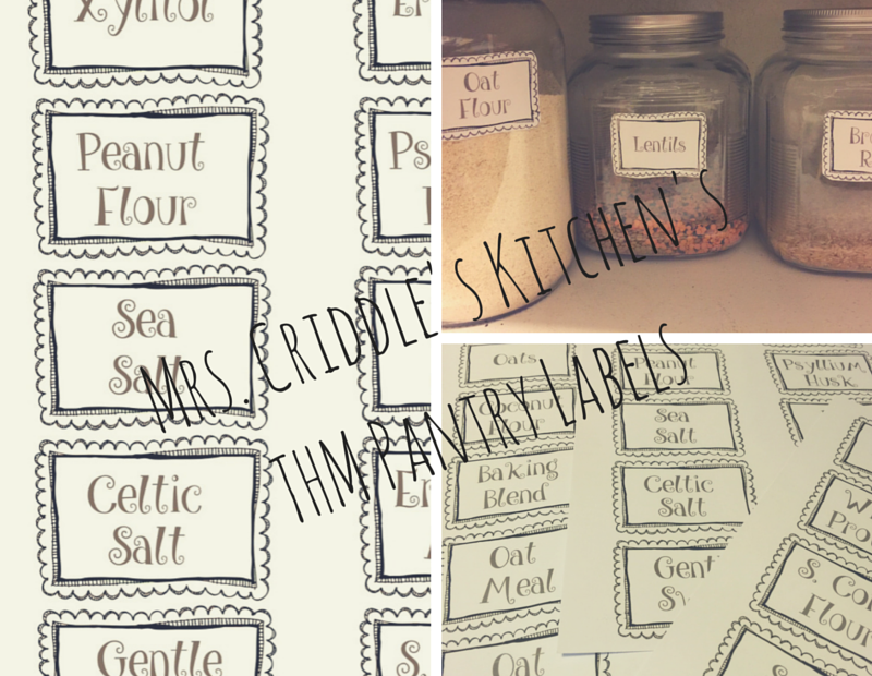 THM Pantry Labels