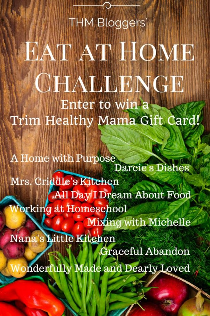 Eat At HOME Challenge and Give Away!