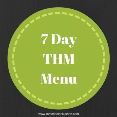 7 Day THM Menu