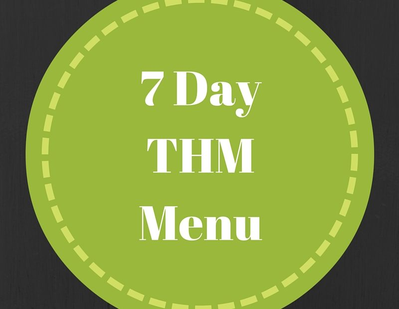 7 Day THM Menu