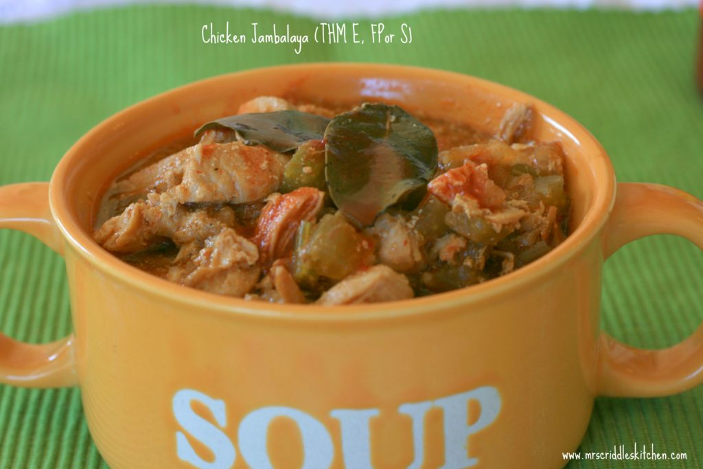 Chicken Jambalaya that will work for Trim Healthy Mama's!