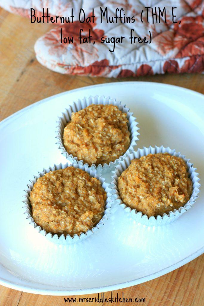 Butternut Oat Muffins- thm E