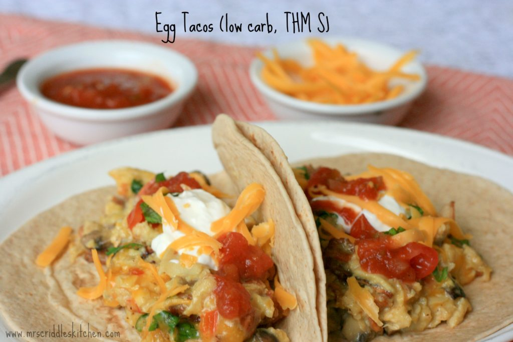 Eggs Tacos- a great protein, THM S breakfast.