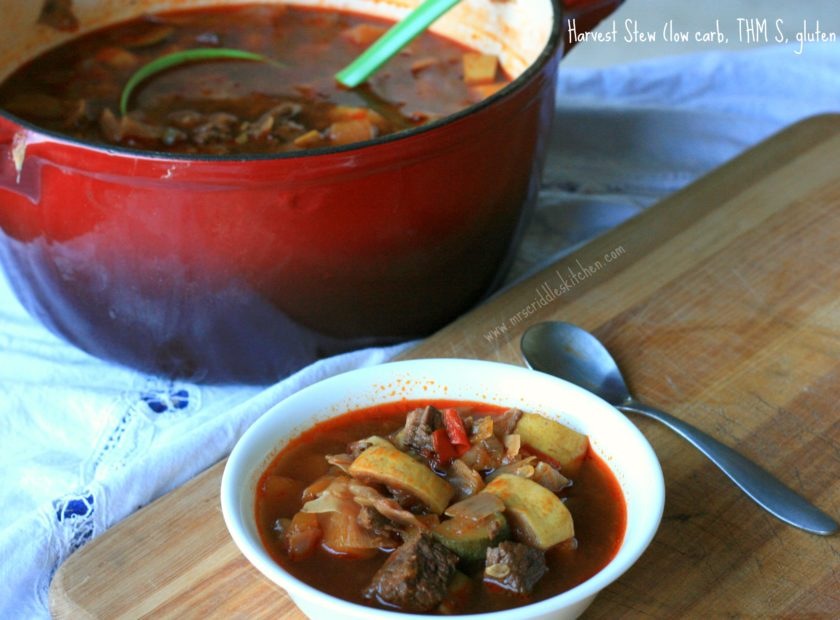 Harvest Stew- a rich comforting stew that is great for a THM fall dinner!