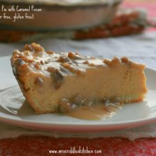 Pumpkin Cheese Cake Pie with Caramel Pecan Sauce