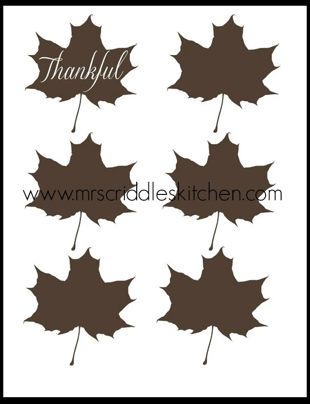 Brown Maple Leaves Place Cards