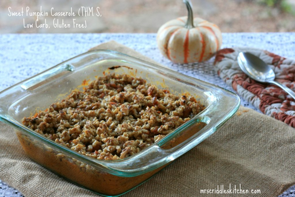 A Lower Carb & Gluten Free take on a Sweet Potato Casserole!