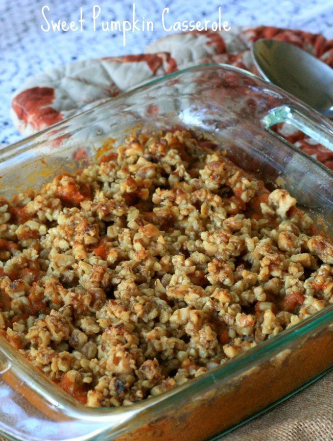 A Lower Carb & Gluten Free take on a Sweet Potato Casserole!