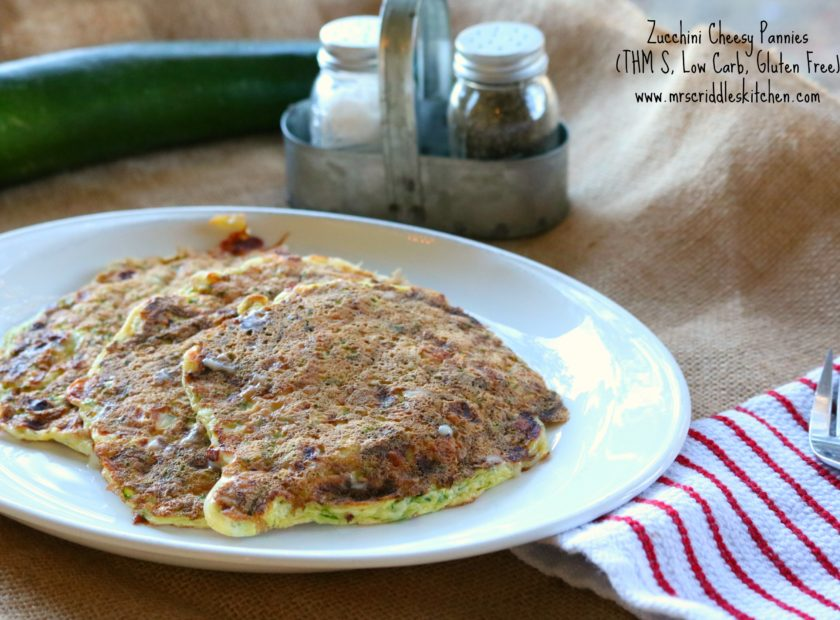 Zucchini Cheesy Pannies THM S, Low Carb, Gluten Free