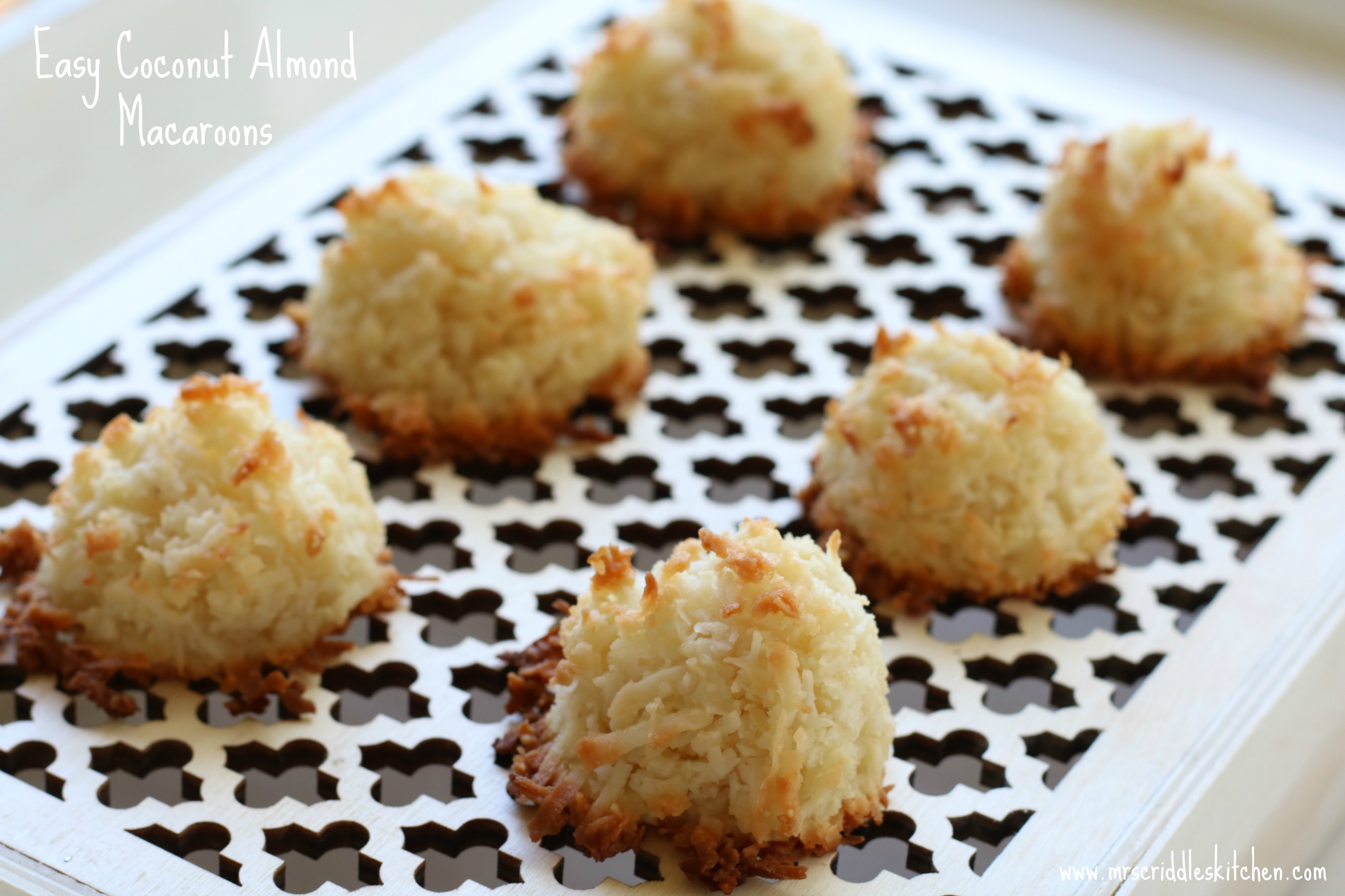 Easy Coconut Almond Macaroons Mrs Criddles Kitchen