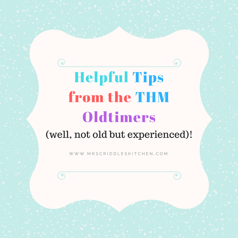 Helpful Tips from the THM Oldtimers!