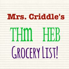 My THM HEB Grocery List