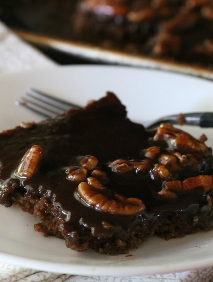 Texas Sheet Cake (low carb, keto, thm)