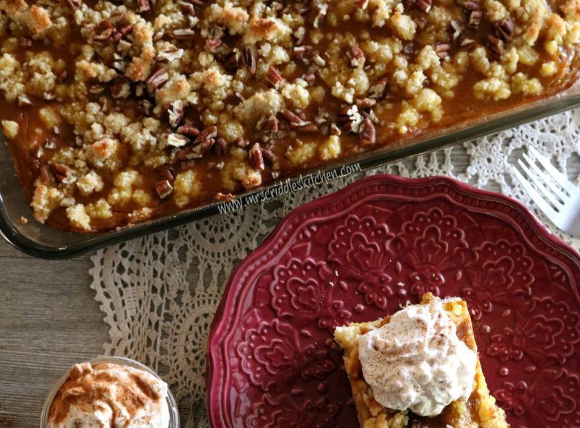 Pumpkin Crumb Cake (THM S, Low Carb)