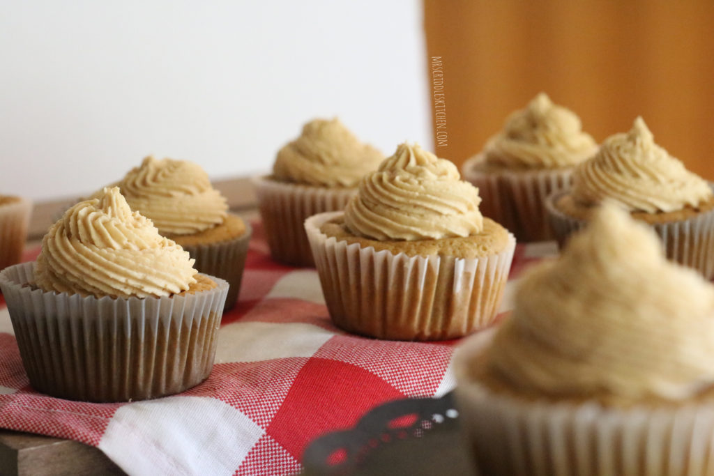 Peanut Butter & Jelly Cupcakes (THM S, Sugar Free, Low Carb)
