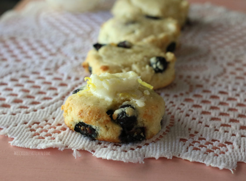 Blueberry Tea Biscuits (low carb, thm s)