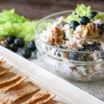 Blueberry Walnut Chicken Salad (THM S, Low Carb, Keto)