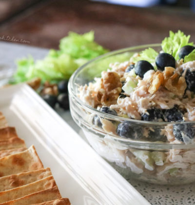 Blueberry Walnut Chicken Salad (THM S, Low Carb, Keto)