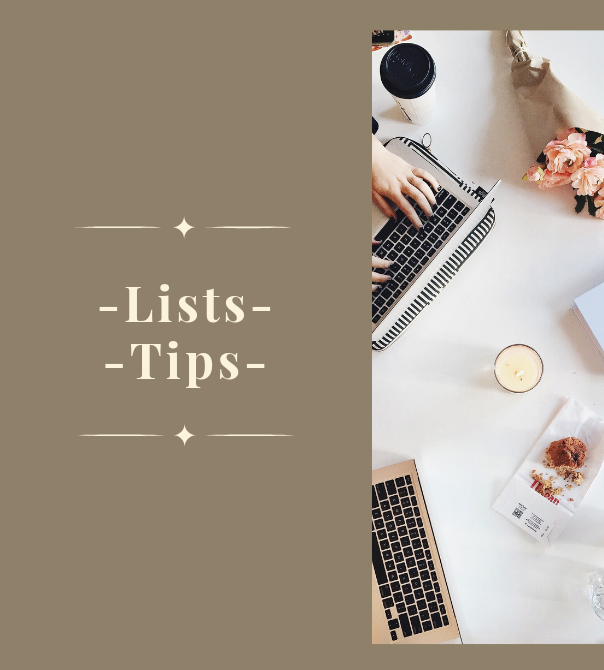 Lists & Tips from Mrs. Criddle's Kitchen