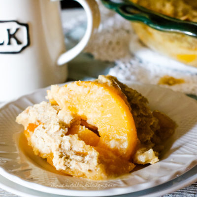 Peach Cobbler Breakfast Bake
