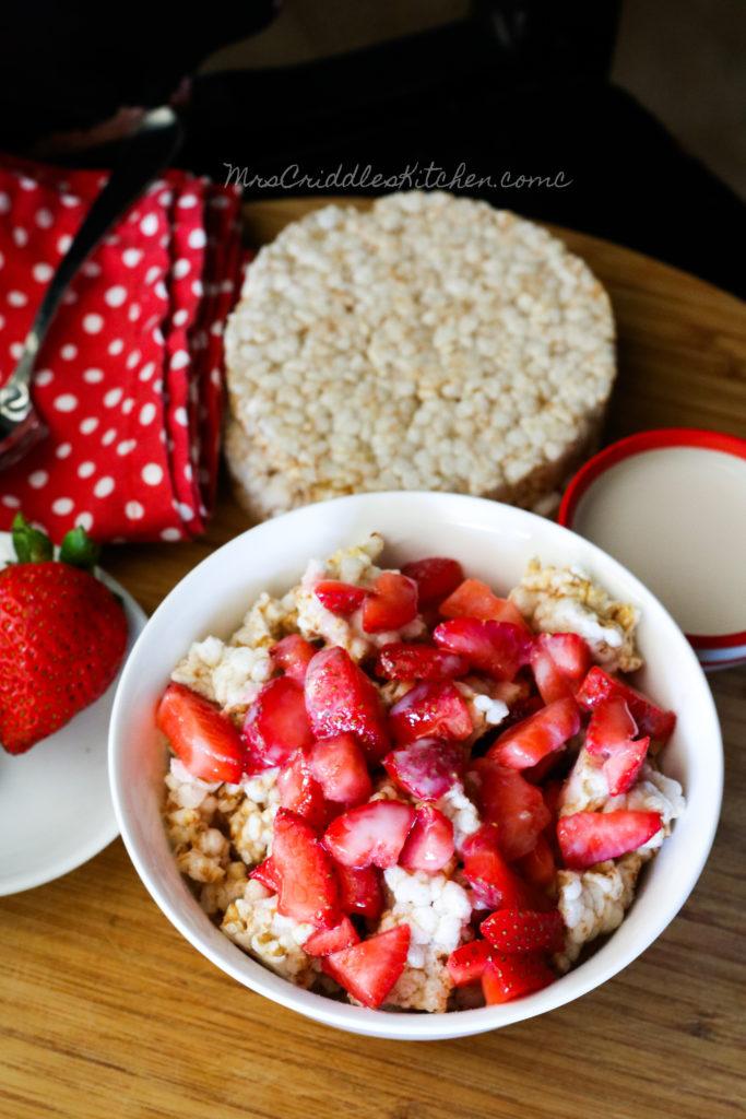 Lowfat Strawberry Shortcake- THM E, Low fat, sugar free, dairy free, gluten free
