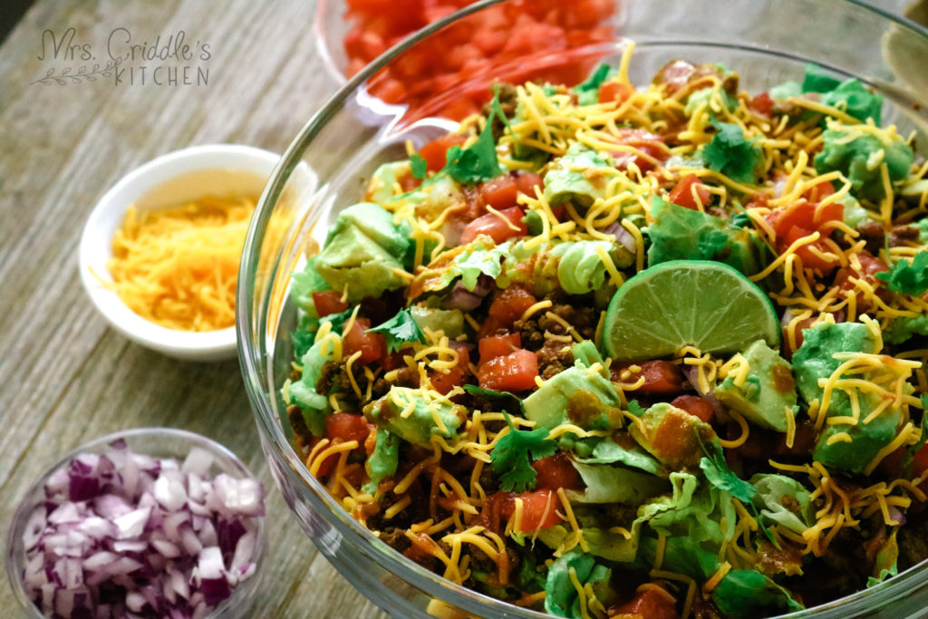 Catalina Taco Salad- Low Carb, THM S