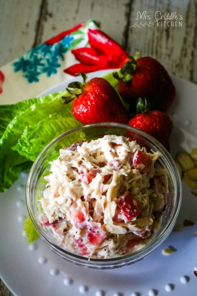 Strawberry Chicken Salad- low carb, thm s, keto