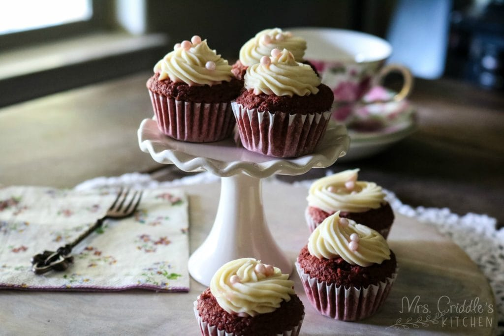 Mini Red Velvet Cupcakes- THM S, Low Carb, Sugar Free
